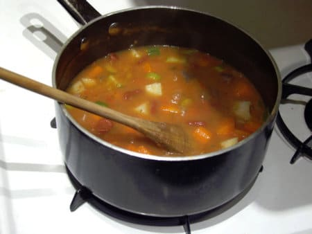 ground meat soup