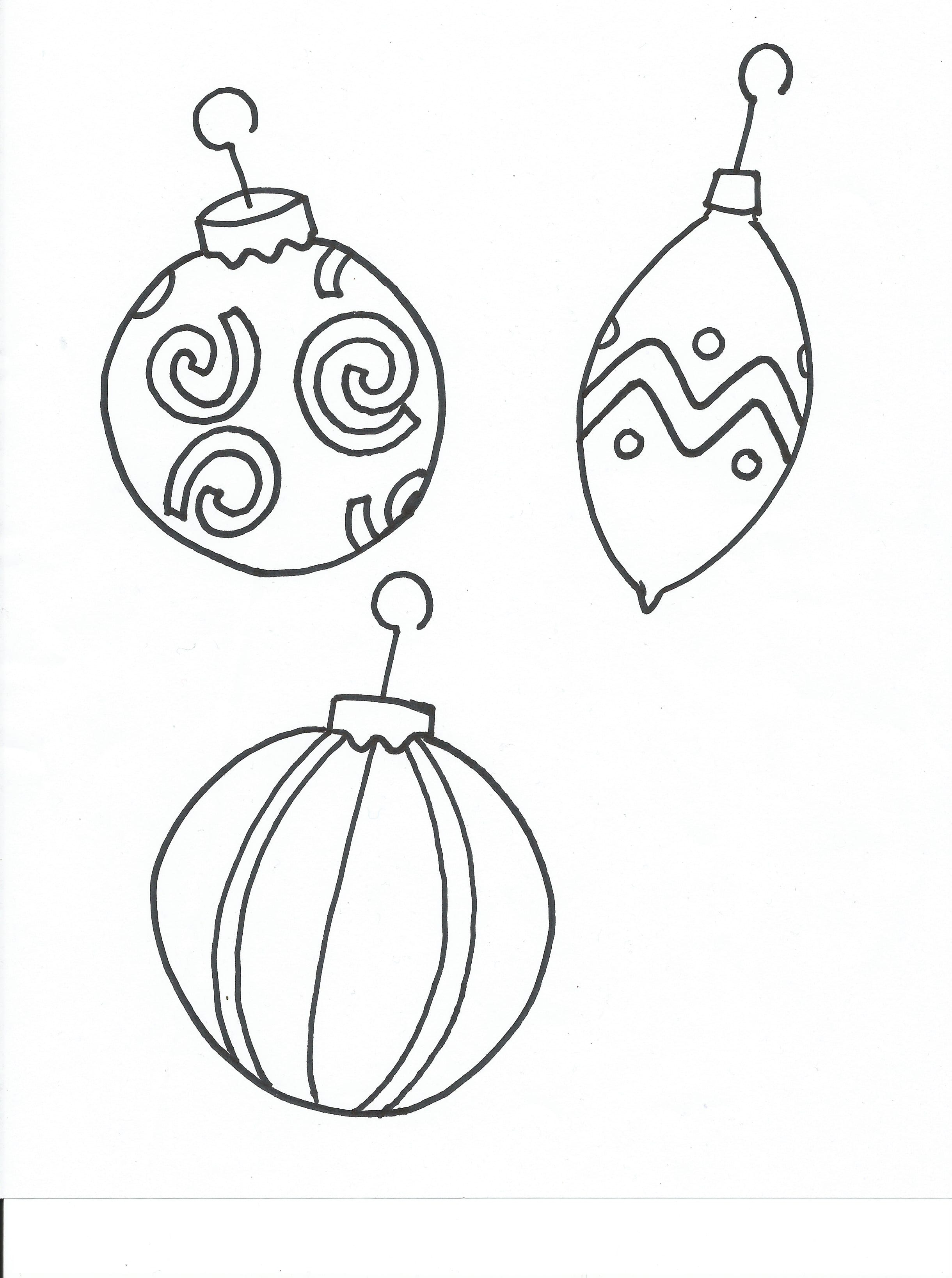 Coloring pages christmas tree blank christmas tree coloring pages - Free Printable Coloring Page Christmas Ornaments Free Printable Coloring Page Christmas Tree