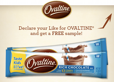 Ovaltine Drink Mix Sample