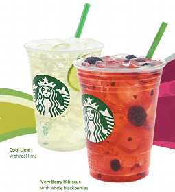 Voucher for Buy 1 Get 1 FREE Starbucks Refreshers Beverage at Starbucks