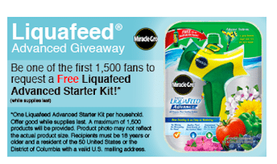 *HOT* FREE Miracle Gro Liquafeed Advanced Starter Kit (1st 1,500!)