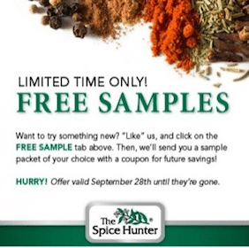 FREE Sample Packet from The Spice Hunter