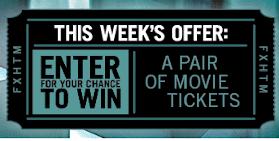 Win (2) $13 Hollywood Movie Money Tickets (192 Winners!)