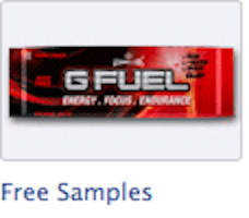FREE G Fuel Energy Drink Mix Sample