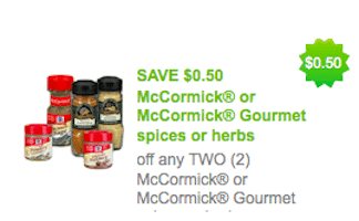 Rare $.50/2 McCormick Spices Coupon