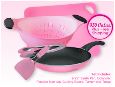 FREE Pink Cookware Set w/ $30 P&G Purchase