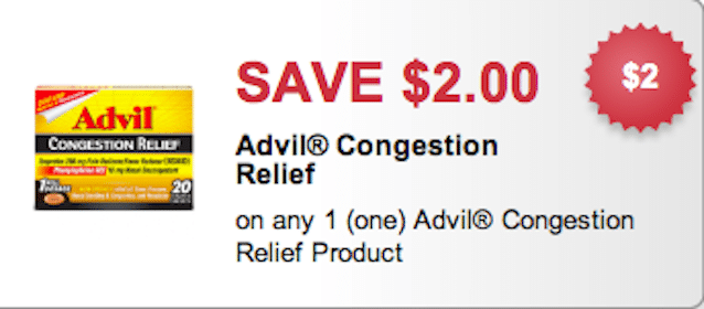 FREE Advil Congestion Relief at CVS