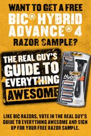FREE Bic Hybrid Advance 4 Razor (1st 50,000!)