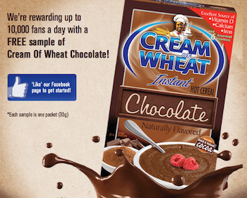 FREE Cream of Wheat Chocolate Samples