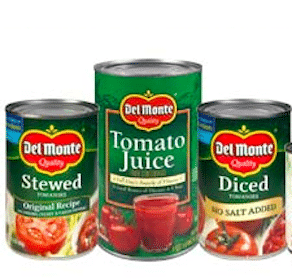 Save $0.50/2 Del Monte Tomatoes Coupon