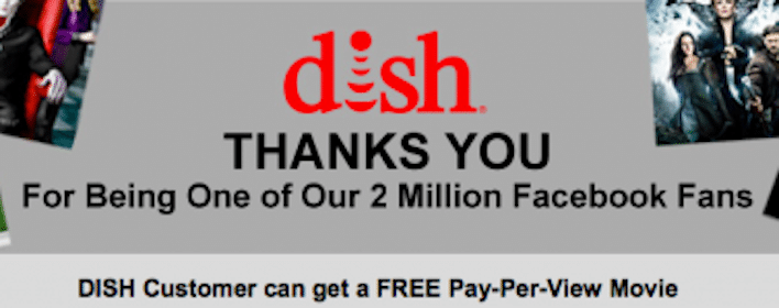 FREE Pay-Per-View Movie for DISH Customers (1st 10,000)