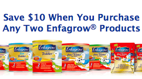 *HOT* $10/2 Enfagrow Toddler Ready to Drink Coupon