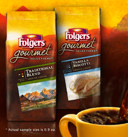 FREE Sample of Folgers Gourmet Selections Ground Coffee (1st 500,000!)
