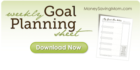 FREE Customizable Weekly Goal Planning Sheet