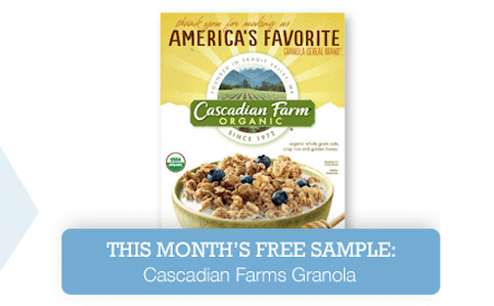 FREE Cascadian Farms Granola Sample (1st 10,000 Live Better America Members Only)