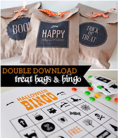 FREE Halloween Printables from Paper Coterie: Treat Bags & Bingo