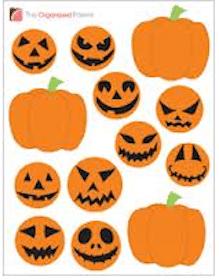 FREE Jack-O-Lantern Stickers