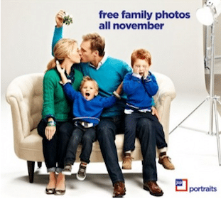FREE Family Photos in November at JCPenney (FREE Sitting Fee, 8×10, & Digital Image Included)