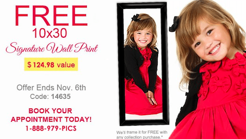 FREE 10×30 Wall Portrait at Kiddie Kandids
