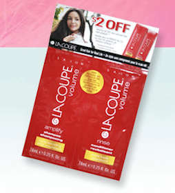 FREE LaCoupe Pump Up The Volume Shampoo & Conditioner sample