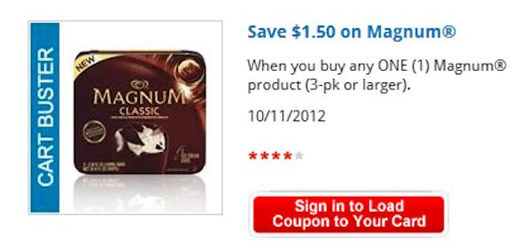 *High Value* $1.50/1 Magnum Ice Cream Product Kroger & Affiliates eCoupon