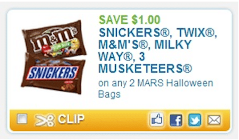 Save $1/2 Mars Halloween Bags Coupon