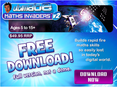FREE Download of Math Invaders ($49.95 Value!)