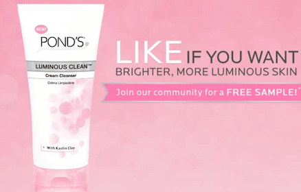 FREE Pond's Luminous Clean Cream Cleanser