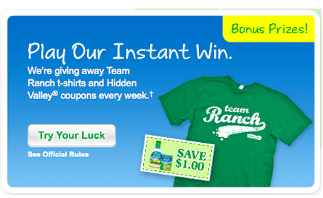Win T-Shirts, Coupons + More in the Hidden Valley Instant Win Game (252 Winners Weekly)