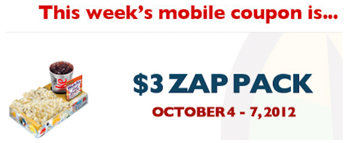 Save $3/1 Zap Pack at Regal Cinemas (Mobile Coupon)