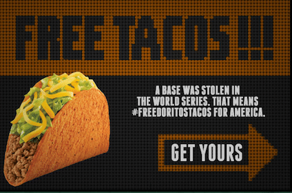 FREE Doritos Locos Taco at Taco Bell on 10/30
