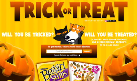 25,000 Win Coupon for FREE Dog Snacks or Cat Treats from Purina!