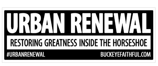 FREE Buckeye Faithful Urban Renewal Sticker
