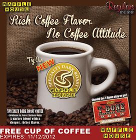 FREE Coffee at Waffle House