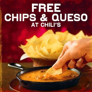 FREE Chili's Chips and Queso Coupon