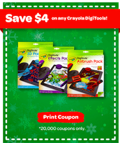 Rare $4/1 Crayola DigiTools Coupon (First 20,000)