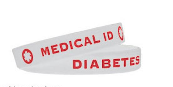 FREE Diabetes Silicone Band