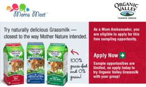 Organic Valley Grassmilk FREE Sample (Mom Ambassadors)