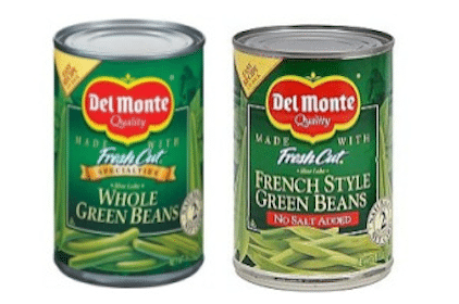 Rare $0.50/4 or $1/8 Del Monte Green Beans Coupon