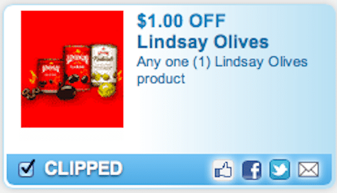 FREE Lindsay Olives at Walgreens & CVS