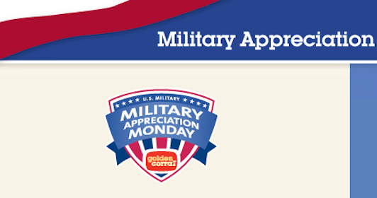 FREE Meal for Military at Golden Corral on Nov 12th