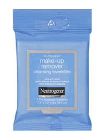 Neutrogena Make-up Remover Towelettes at Target or Walmart