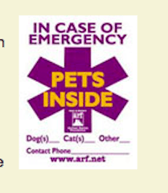 FREE Emergency Pet Preparedness Decal & Card