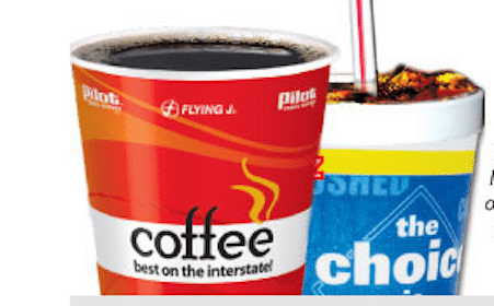 FREE Hot or Cold Beverage at Pilot Travel Centers and Flying J