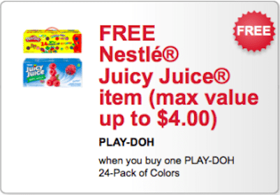 FREE Nestle Juicy Juice Item w/Purchase of Play-Doh 24-Pack of Colors Coupon