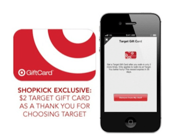 FREE $2 Target Gift Card with Shopkick app