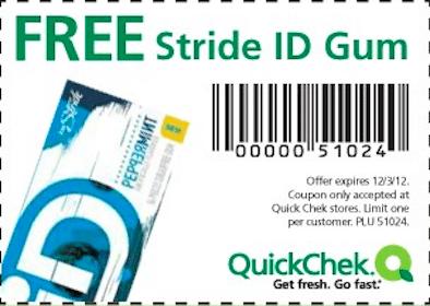 Stride ID Gum at Quick Chek