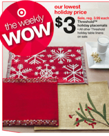 *HOT* FREE Holiday Placemat at Target (with Coupon)