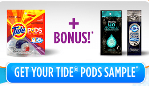 FREE Tide Pods & Downy Or Dawn Samples