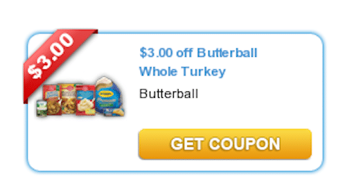 Save $3 off Butterball Whole Turkey Coupon
